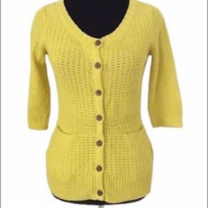 Sparrow {Anthropologie} Yellow Cardigan